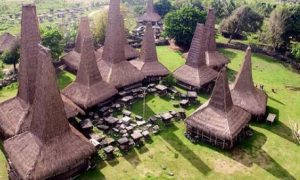 Rumah Kuno dari Bambu dengan Atap yang Unik di Desa Ratenggaro